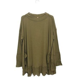 Free People Sparrow Tunic Top Lace Details Boho